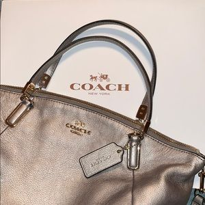Coach metallic gold crossbody